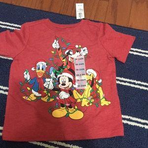 Mickey Mouse short sleeve Christmas T-shirt